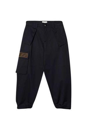 Pantaloni blu teen FF Fendi Kids FENDI KIDS | 9 | JMF331ADEHF0QB0T