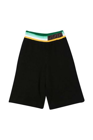 Black bermuda shorts with multicolor band Fendi kids FENDI KIDS | 5 | JMF3335V0F1DEM