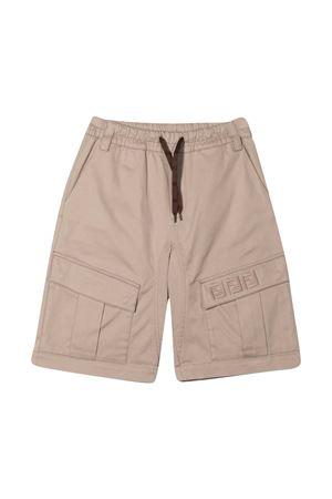 Beige cargo Fendi Kids shorts  FENDI KIDS | 5 | JMF335ADEHF0QB9