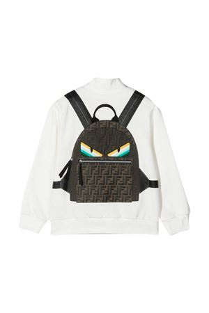 White Fendi Kids sweatshirt  FENDI KIDS | -108764232 | JMH126AEY7F0TU9