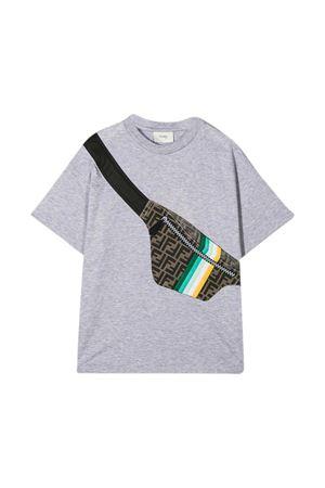 T-shirt grigia Fendi Kids FENDI KIDS | 8 | JMI3337AJF0WG5