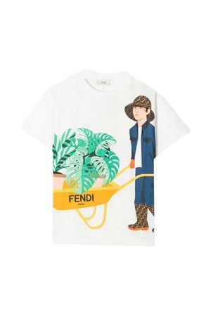 T-shirt bianca teen Fendi Kids FENDI KIDS | 8 | JMI3597AJF0TU9T