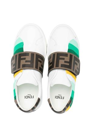 Sneakers bianche teen Fendi Kids FENDI KIDS | 90000020 | JMR360AEGJF1D0ZT