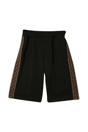 Fendi Kids black shorts  FENDI KIDS | 5 | JUF018A69DF0QA1