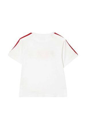White t-shirt with multicolor applications Fendi kids FENDI KIDS | 8 | JUI0157AJF1DEQ