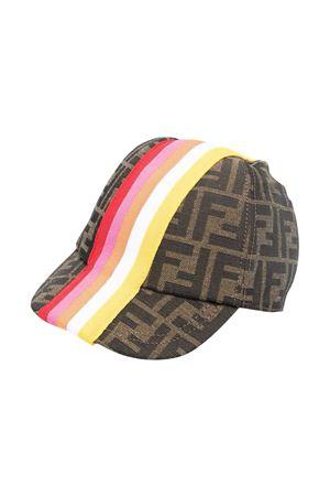 Cappello con trama logata e bande multicolor Fendi kids FENDI KIDS | 75988881 | JUP004AF11F1CWQ