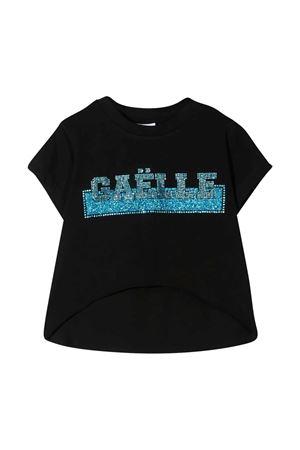 T-shirt with Gaelle rhinestone logo Gaelle | 8 | 2746M0359BLACK