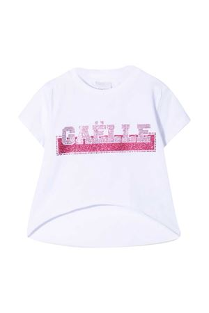 T-shirt with Gaelle rhinestone logo Gaelle | 8 | 2746M0359WHITE