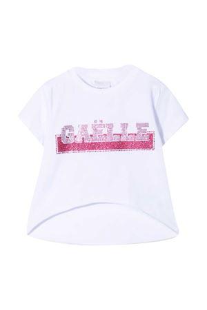 T-shirt teen con logo di strass Gaelle Gaelle | 8 | 2746M0359WHITET