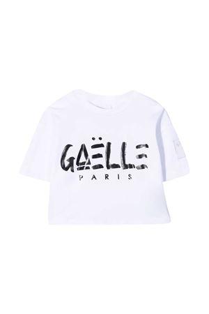 T-shirt teen crop con stampa Gaelle Gaelle | 8 | 2746M0430WHITET
