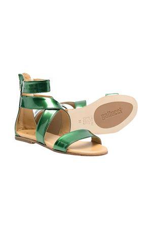 Gallucci Kids teen green sandals  Gallucci   5032315   J00933AMAXP712T