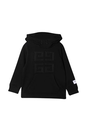 Black sweatshirt Givenchy kids with hood Givenchy Kids | -108764232 | H2523209B