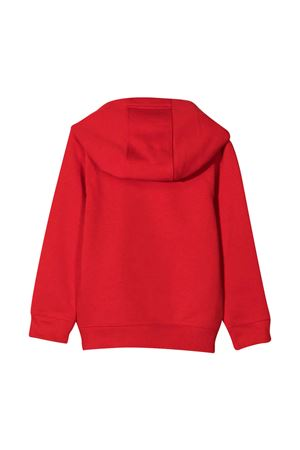 Red teen sweatshirt with white logo and hood Givenchy kids Givenchy Kids | -108764232 | H25239991T