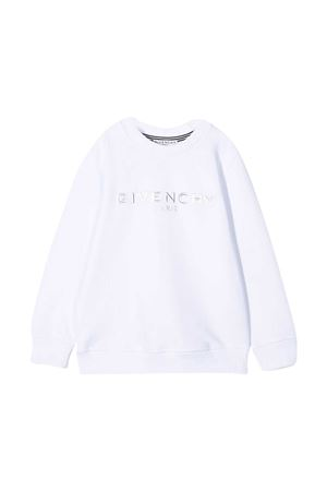 White sweatshirt with logo Givenchy kids Givenchy Kids | -108764232 | H2524110B