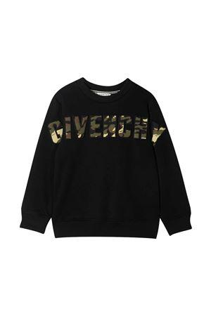 Felpa nera con stampa oro Givenchy kids Givenchy Kids | -108764232 | H2525909B
