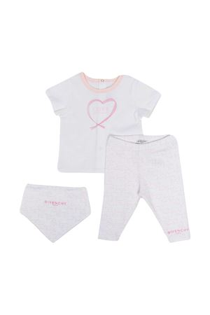 Completo neoanato bianco e rosa Givenchy kids Givenchy Kids | 42 | H9811245S