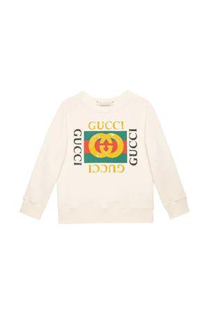 Felpa bianca teen Gucci Kids GUCCI KIDS | -108764232 | 483878X3G979112