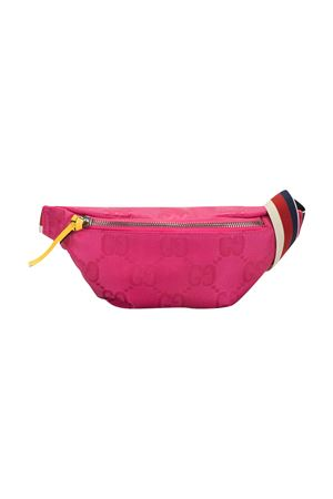 Pink belt bag with Gucci Kids logo texture GUCCI KIDS   5032342   502095H9HIN8584