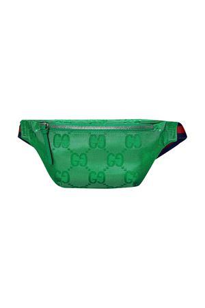 Green belt bag with Gucci Kids logo texture GUCCI KIDS   5032342   502095H9HSN3781