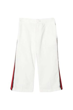 White trousers with side band Gucci Kids GUCCI KIDS | 9 | 544563XDBKR9692