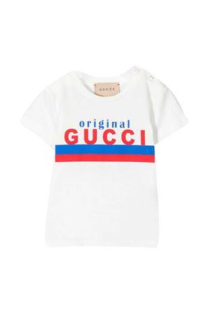 T-shirt bianca baby con stampa Gucci Kids GUCCI KIDS | 8 | 548034XJC7M9061