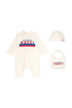 Set neonato bianco con stampa Gucci Kids GUCCI KIDS | 75988882 | 575145XJC739750