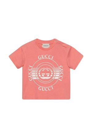 T-shirt rosa con stampa bianca Gucci kids GUCCI KIDS | 8 | 576871XJC7O6152
