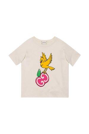 White t-shirt with frontal print Gucci kids GUCCI KIDS   8   622044XJC9I9247