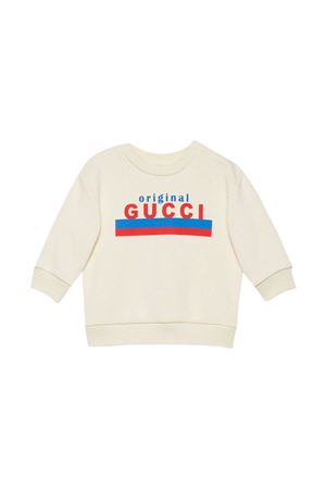 Felpa bianca con stampa Gucci Kids GUCCI KIDS | -108764232 | 629430XJC7C9061