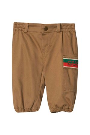 Beige newborn chinos Gucci Kids GUCCI KIDS | 9 | 638090XWAML2002