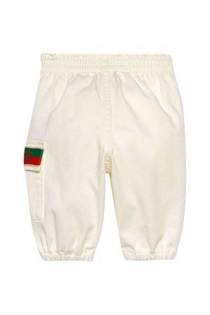 Pantalone bianco con logo Gucci Kids GUCCI KIDS | 9 | 638153XDBJR9692