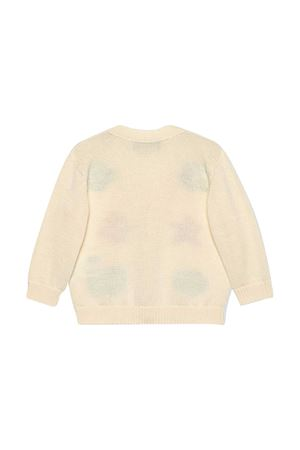 Cardigan bianco con stampa multicolor Gucci Kids GUCCI KIDS | 39 | 639457XKBMX9061
