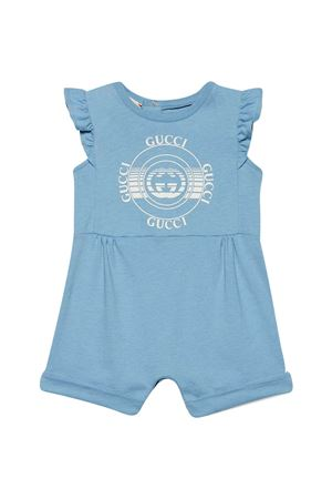 Tutina blu con stampa Gucci kids GUCCI KIDS | 1491434083 | 642705XJC7O4282