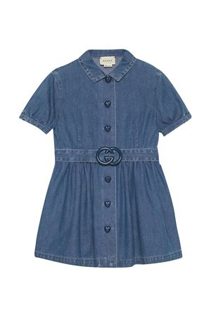 Abito blu con bottoni Gucci Kids GUCCI KIDS   11   643405XDBKW4633