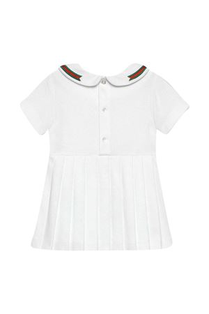 White dress with bow and multicolor details Gucci kids GUCCI KIDS | 11 | 647003XJC859023