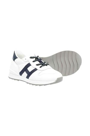 Hogan Kids white sneakers  HOGAN KIDS | 12 | HXT4840CY50FTQ1563
