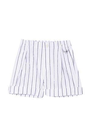 Shorts gessati con ricamo Il Gufo IL GUFO | 5 | P21PB019C1067010