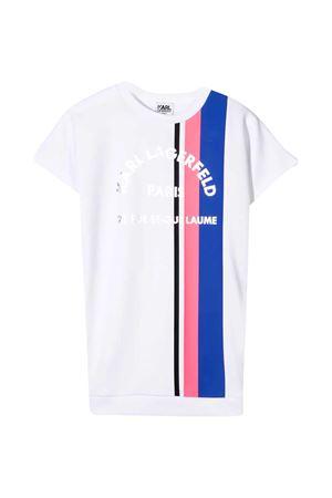 Abito bianco  modello T-shirt con stampa a righe Karl Lagerfeld Kids Karl lagerfeld kids | 11 | Z1218210B