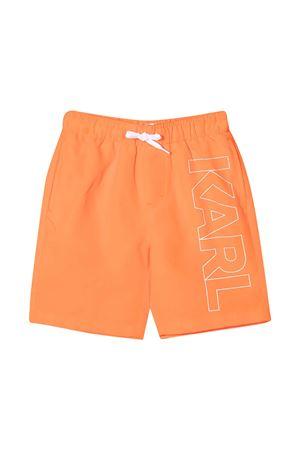 Teen swim shorts with Karl Lagerfeld Kids print Karl lagerfeld kids | 85 | Z20055406T