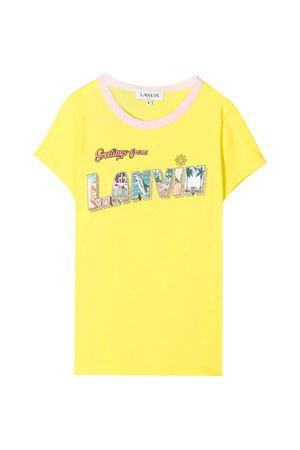 T-shirt gialla teen Lanvin Enfant Lanvin enfant   8   N15020553T