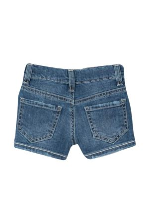 Shorts denim con ricamo a fiori Le Bebè Le bebè | 30 | LBG3380BLU