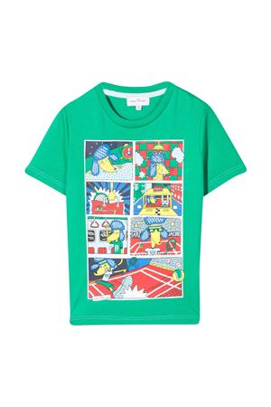 T-shirt verde con stampa Little marc jacobs kids Little marc jacobs kids | 8 | W25474696