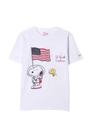 T-shirt bianca con stampa multicolor Mc2 Saint barth kids MC2 SAINT BARTH KIDS | 8 | EDD0001EBS01N