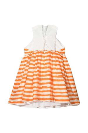 White and orange dress Mi Mi Sol kids  MI.MI.SOL | 11 | MFAB254TS0421STAMP2