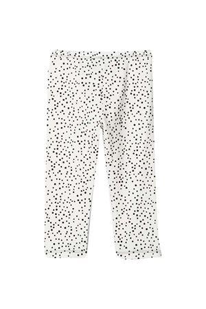 White leggings with black polka dots Mi Mi Sol kids MI.MI.SOL | 9 | MFPA052TS0456WHT
