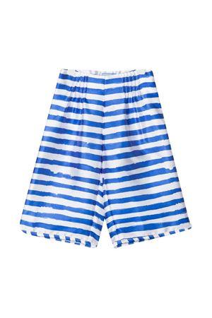 White shorts with blue stripes Mi Mi Sol kids MI.MI.SOL | 9 | MFPA061TS0471LTB