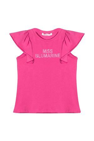 T-shirt con stampa Miss Blumarine Miss Blumarine | 8 | MBL3821CICLAMINOB
