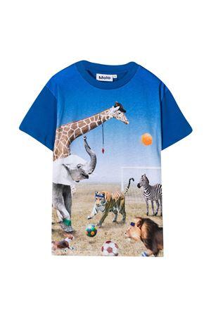 Blue t-shirt with print Molo MOLO | 8 | 1S21A2297438