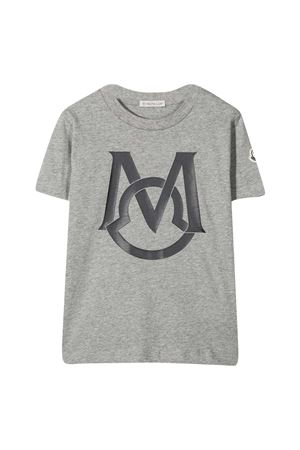 T-shirt grigia con stampa Moncler kids Moncler Kids | 8 | 8C7422083907980