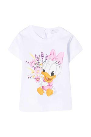 White t-shirt with mullticolor print Monnalisa kids Monnalisa kids | 8 | 317616PF72060099
